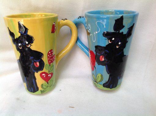 Schnauzer Mugs and Tall Lattes