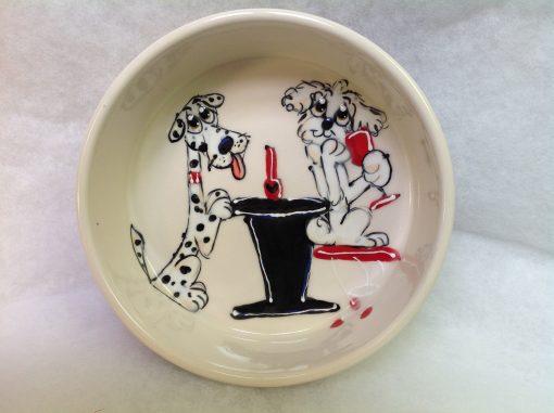 Dalmation Dog Bowl