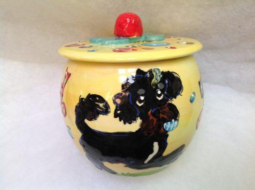Portugese Watedog Treat Jar