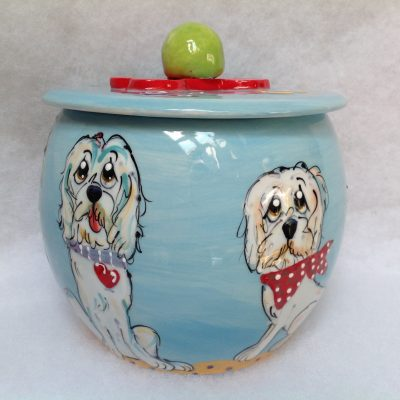 Golden Doodle Treat Jar