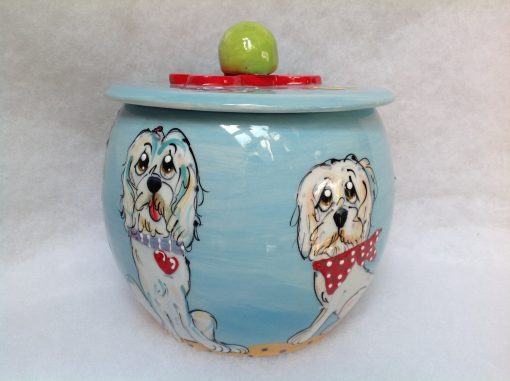 Golden Doodle Treat Jar