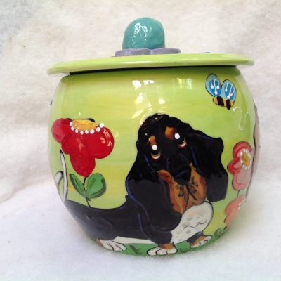 Bassett Hound Treat Jar