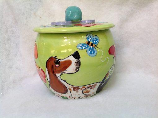 Bassett Hound Treat Jar