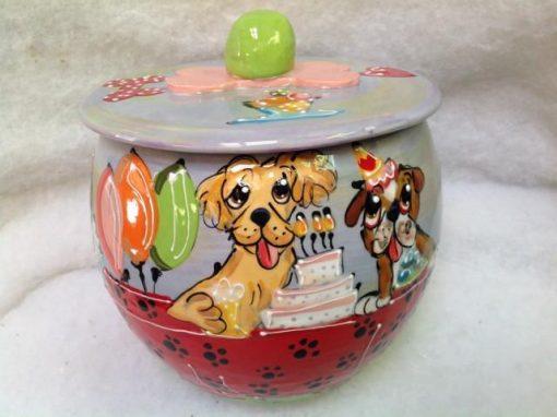 Bulldog and Golden Retriever Treat Jar