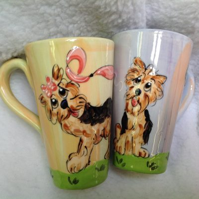 Yorkie Terrier Mugs and Tall Lattes