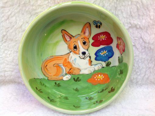 Welsh Corgi Dog Bowl