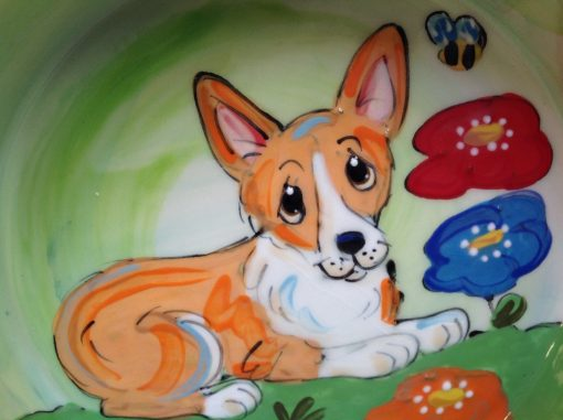 Corgi Dog Bowl