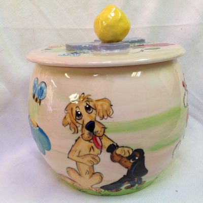 Golden Retriever and Dachshund Treat Jar