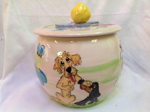Golden Retriever and Dachshund Treat Jar