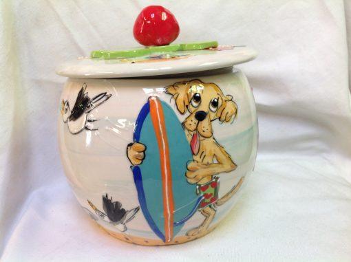 Golden Retriever Treat Jar