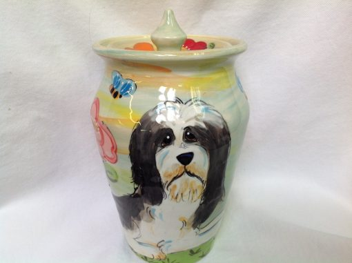 Bearded Collie Custom Pet Urn
