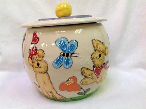 Wheaten Terrier Treat Jar