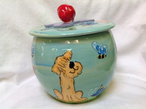Wheaten Terrier Treat Jar