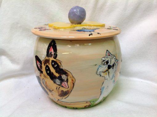 German Shepherd Treat Jar