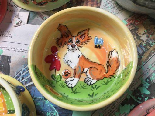 Papillon Dog Bowl