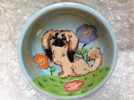 Pekingese Dog Bowl