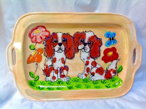 King Charles Cavalier Serving Tray