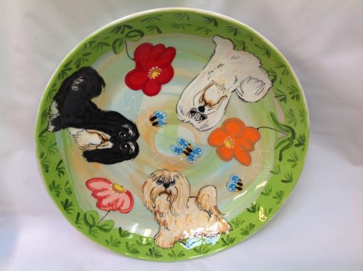 Havanese Dog Platter