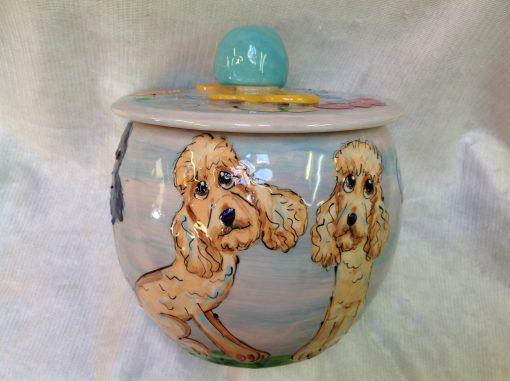 Labradoodle Treat Jar