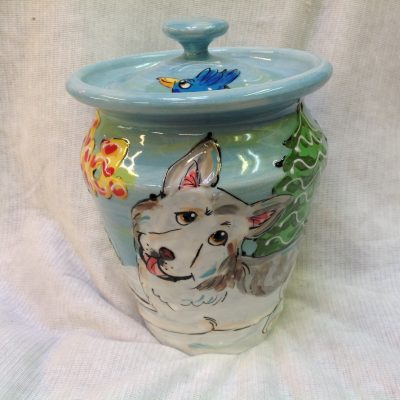 Siberian Huskey Dog Urn
