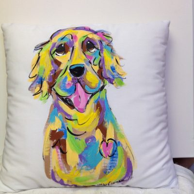 Golden Retriever Custom Pillow