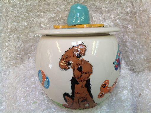 Airedale Terrier Treat Jar