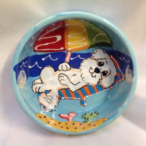 Bichon Dog Bowl