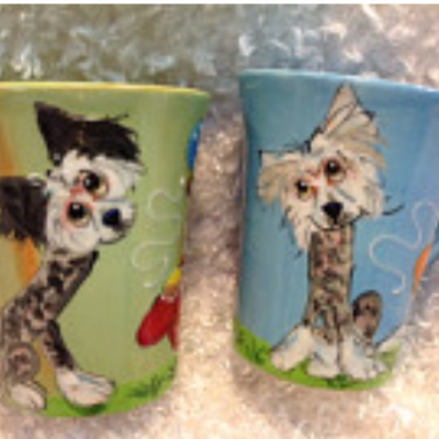 Chinese A Crested Coffee Mugs
