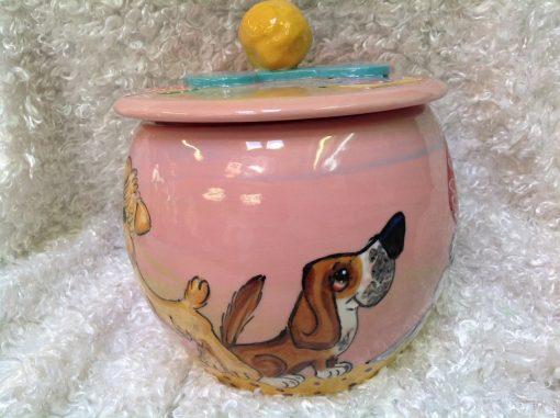 Basset Hound Treat Jar