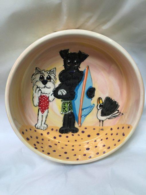 Schnauzer and Westie Dog Bowl