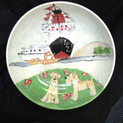 Wheaten Terrier Dog Platter