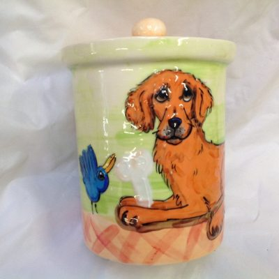 Golden Retriver Treat Jar
