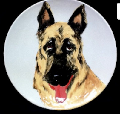 German Shepherd Dog Platter