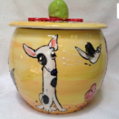 Bull Terrier Treat Jar