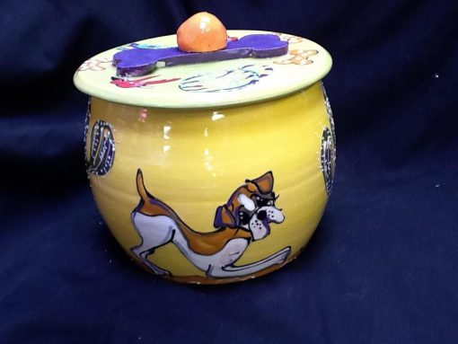 Boxer Treat Jar