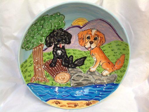 Dog Oval Platter
