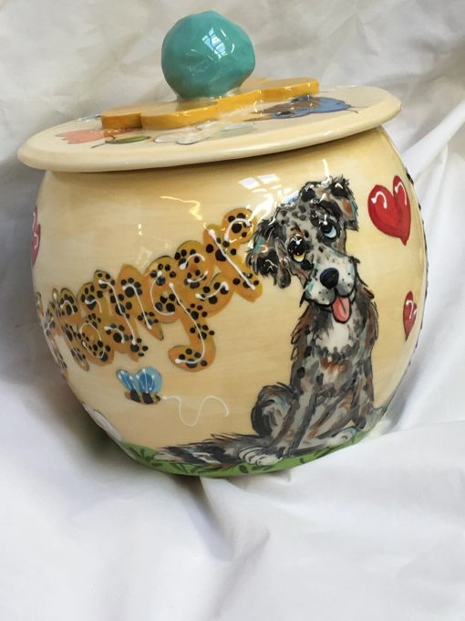 Australian Shepherd Treat Jar
