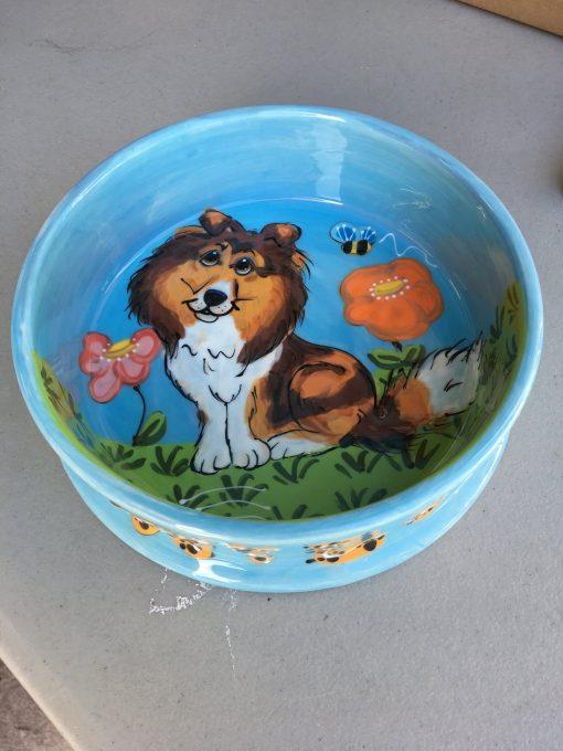 Herding Collie Dog Bowl