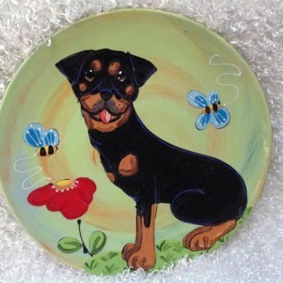 Rottweiler Dog Plate