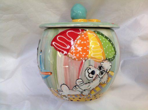 Poodle Treat Jar