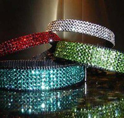 Birthstone Color Swarovski Crystal Collars- Many Colors