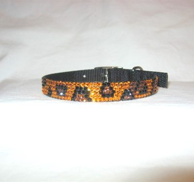 Urban Jungle Leopard Swarovski Collar