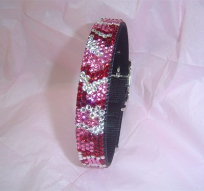 Urban Jungle Pink Camouflage Swarovski Collar