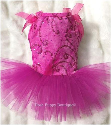 Hot Pink Glitter Tutu Dress
