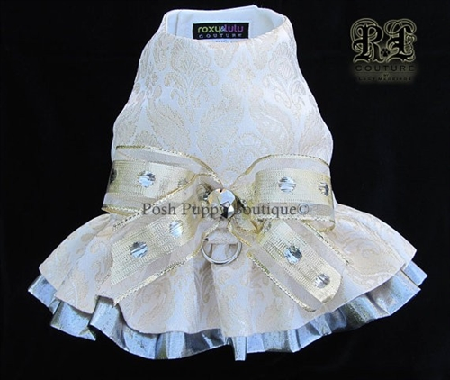 Couture Hanna Silver Dog Harness Dress