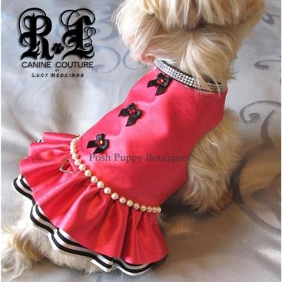 Couture La Vie En Rose Dog Harness Dress