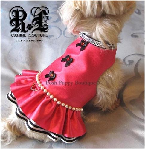 Couture La Vie En Rose Dog Harness Dress