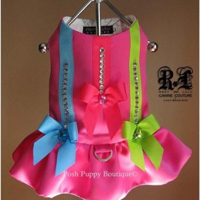 Couture Pink Voltage Dog Harness Dress