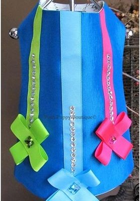 Couture Twilight Teal Dog Harness Vest