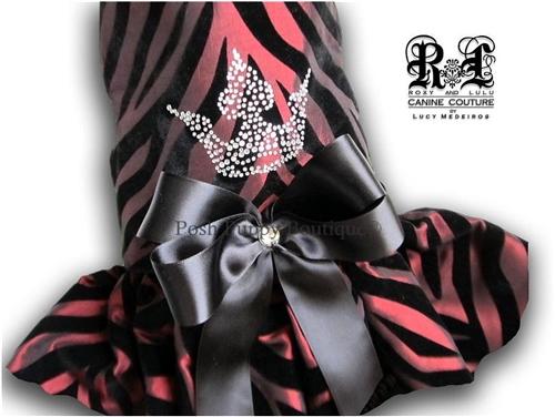 Couture Magenta Blossom Dog Harness Dress